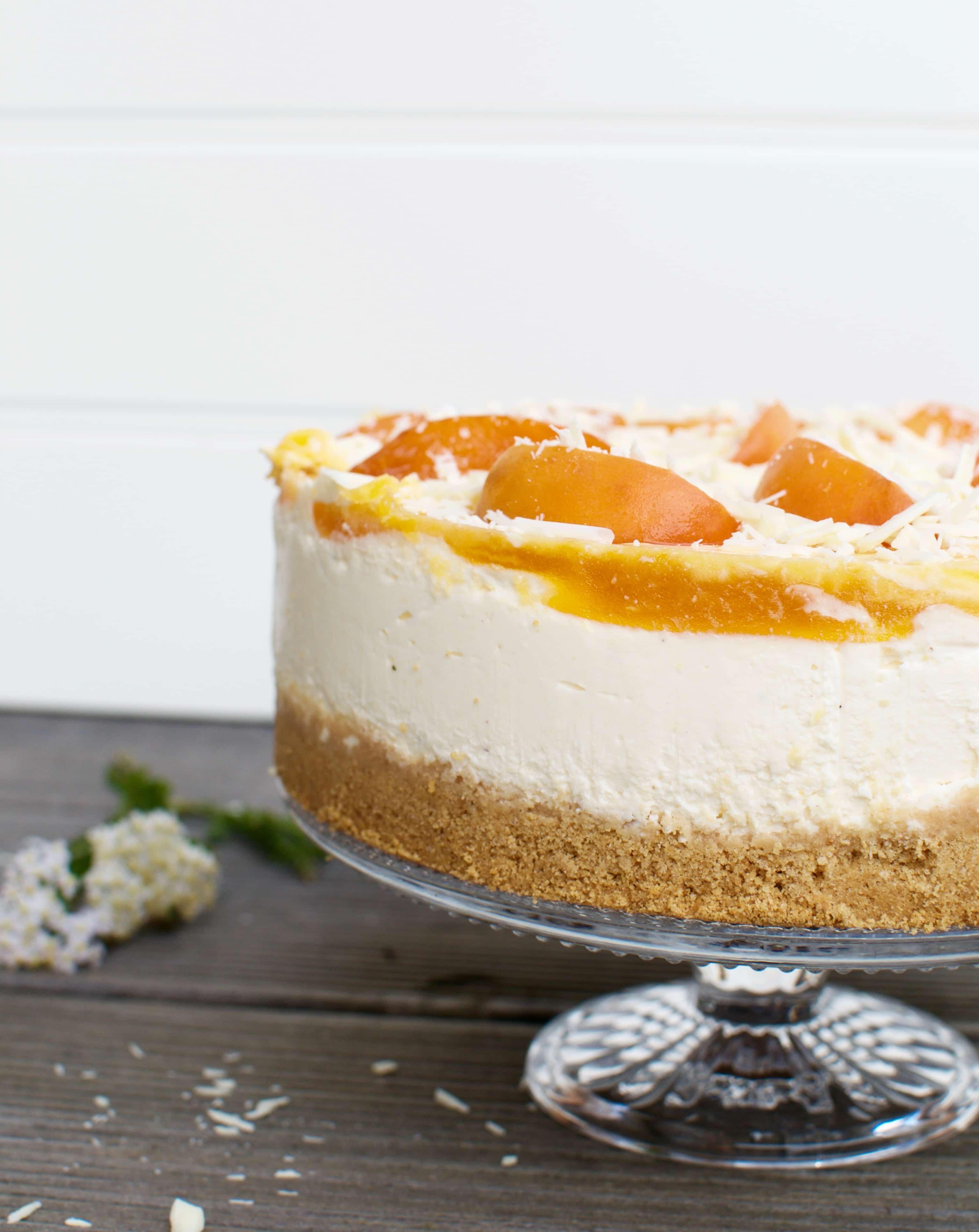 No Bake Marillen Cheesecake