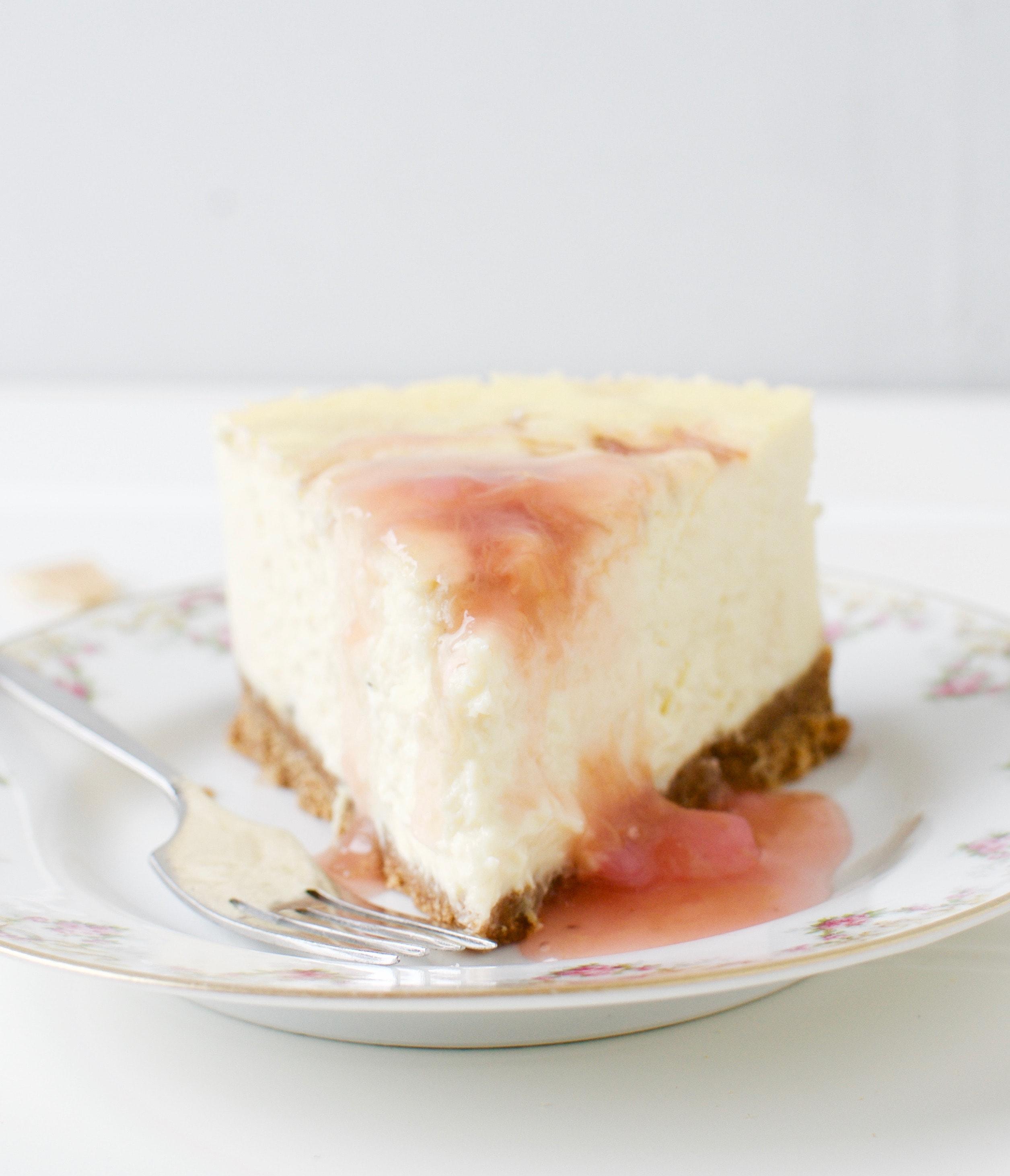 Cheesecake mit Rhabarber