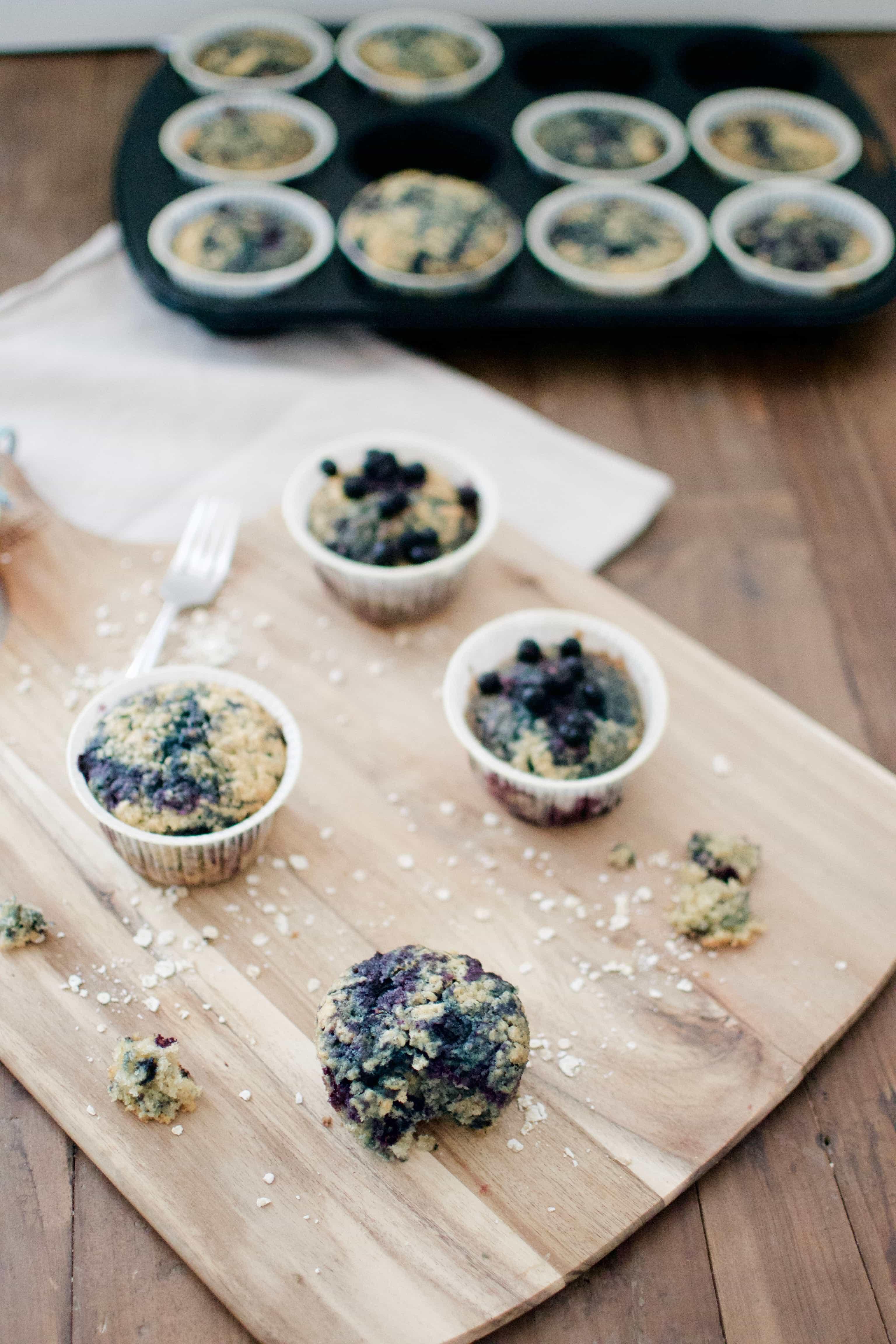 Heidelbeer Haferflocken Muffins