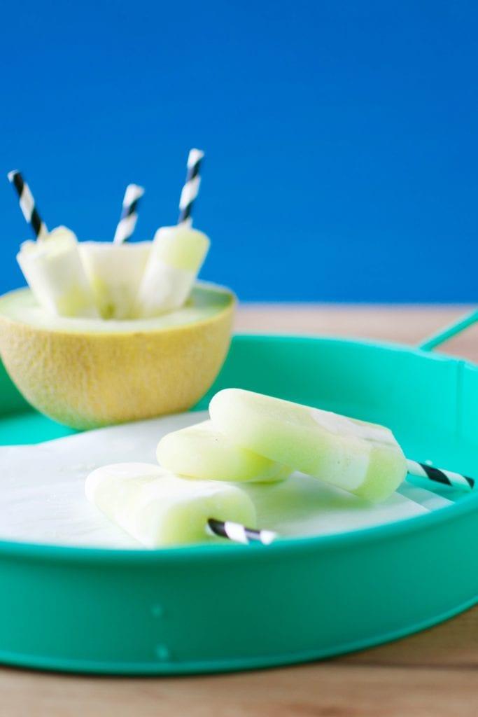 Melone Mascarpone Popsicles