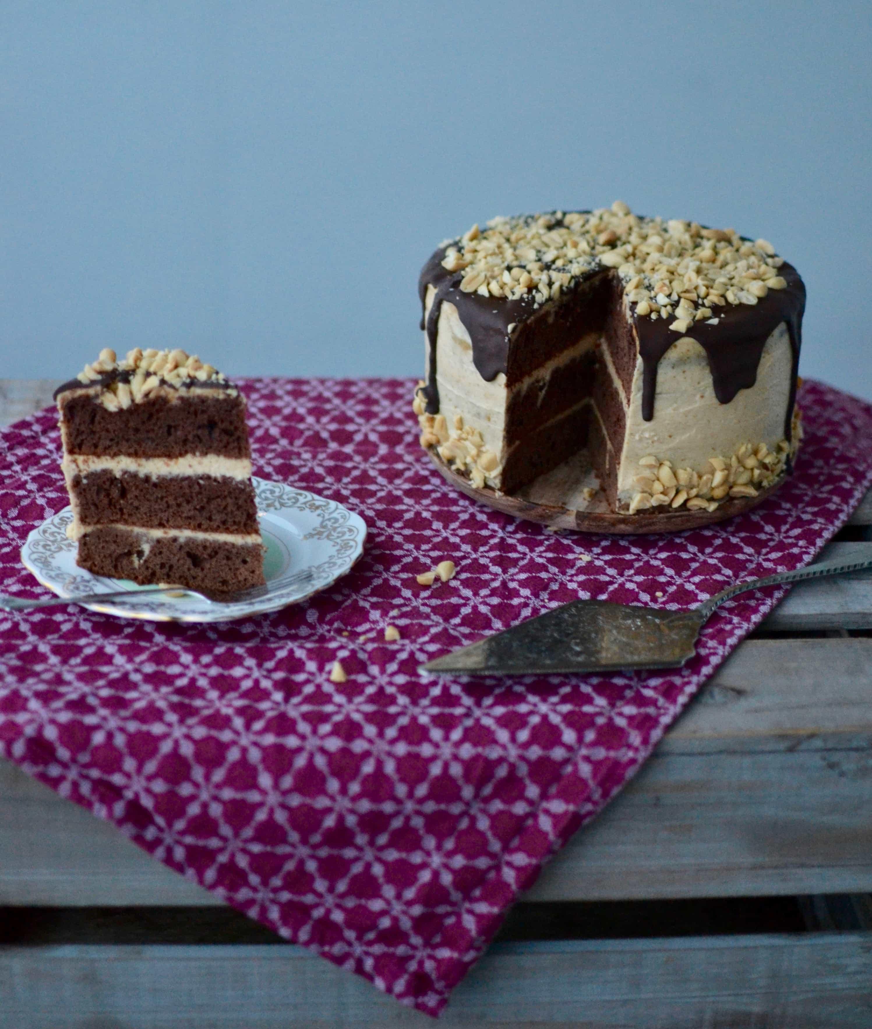 Peanutbutter Chocolat Cake