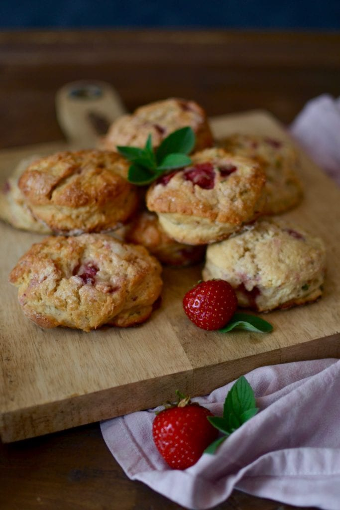 Erdbeer Minz Scones