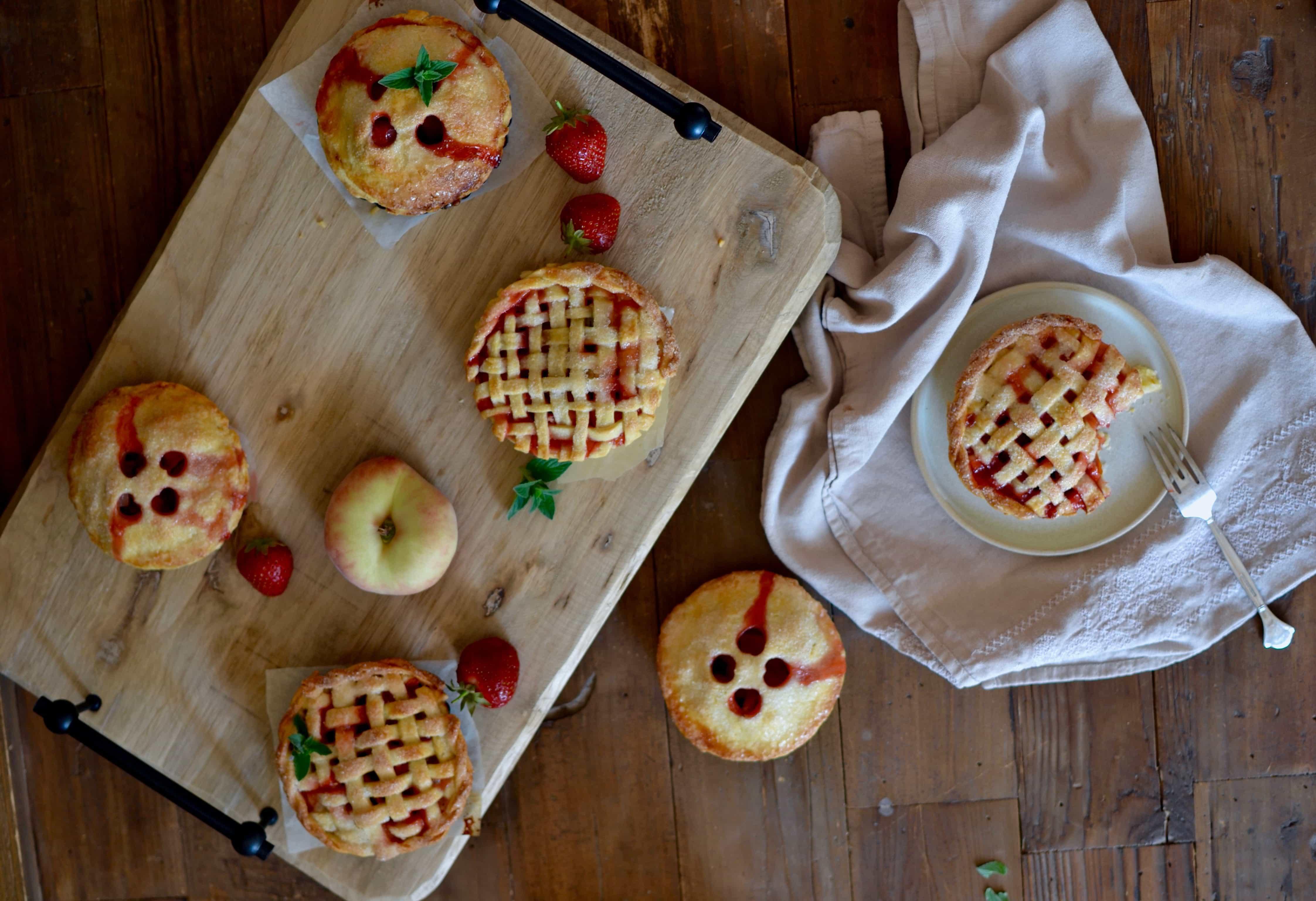 Erdbeer Pfirsich Tartelettes