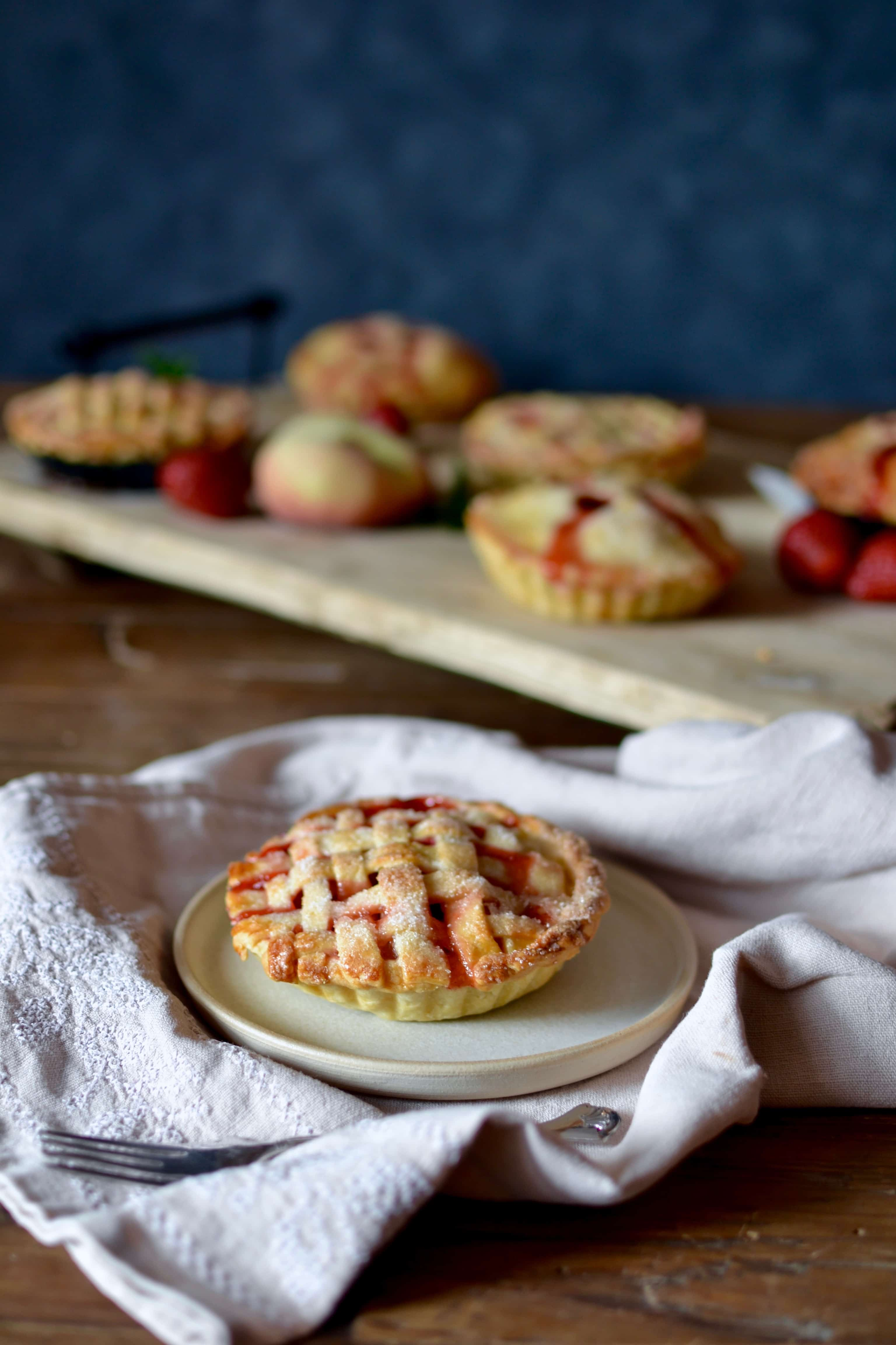 Pfirsich Erdbeer Tartelettes