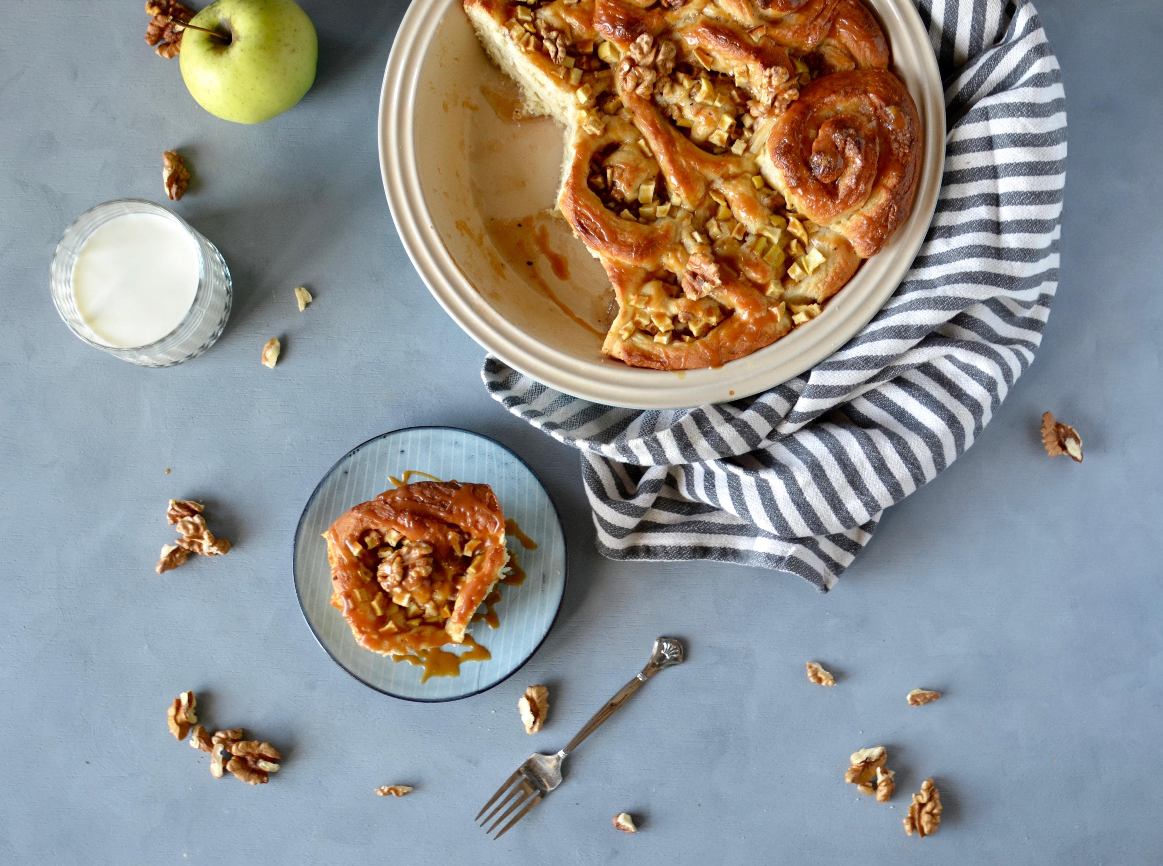Apfelschnecken mit Salzkaramell