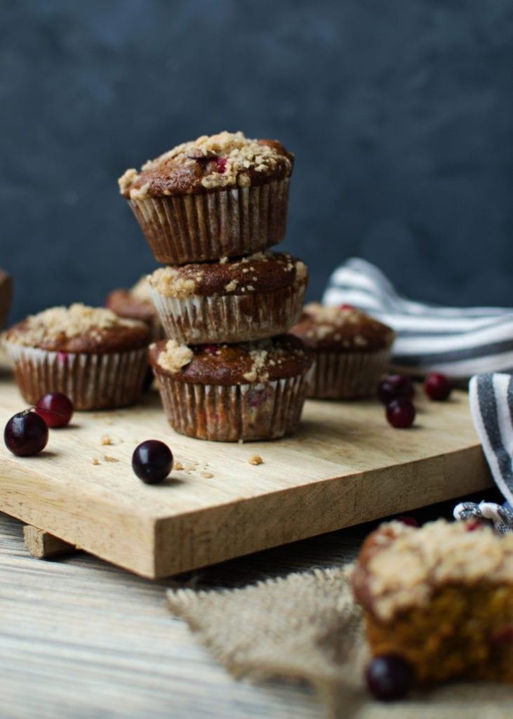 Kürbis Cranberry Streusel Muffins