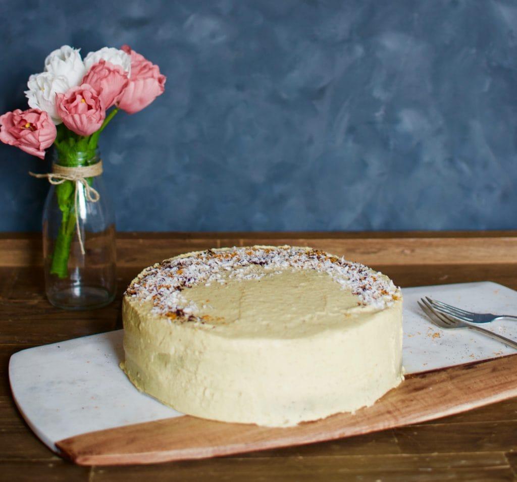 veganer Schoko Mango Kuchen