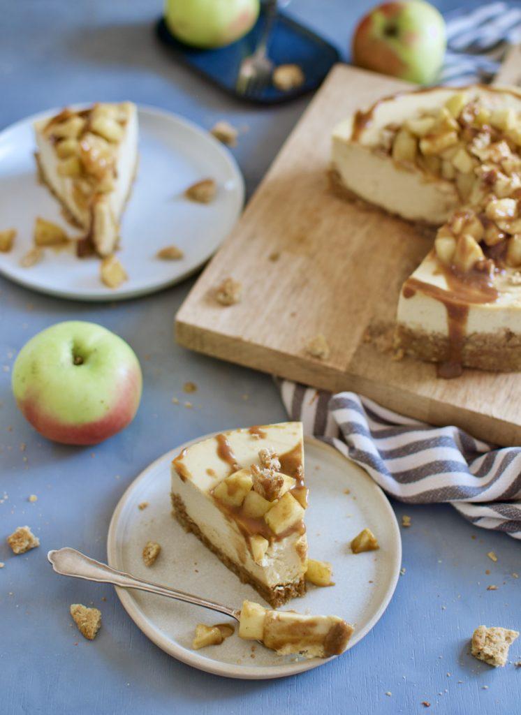 Apfel Karamell Cheesecake
