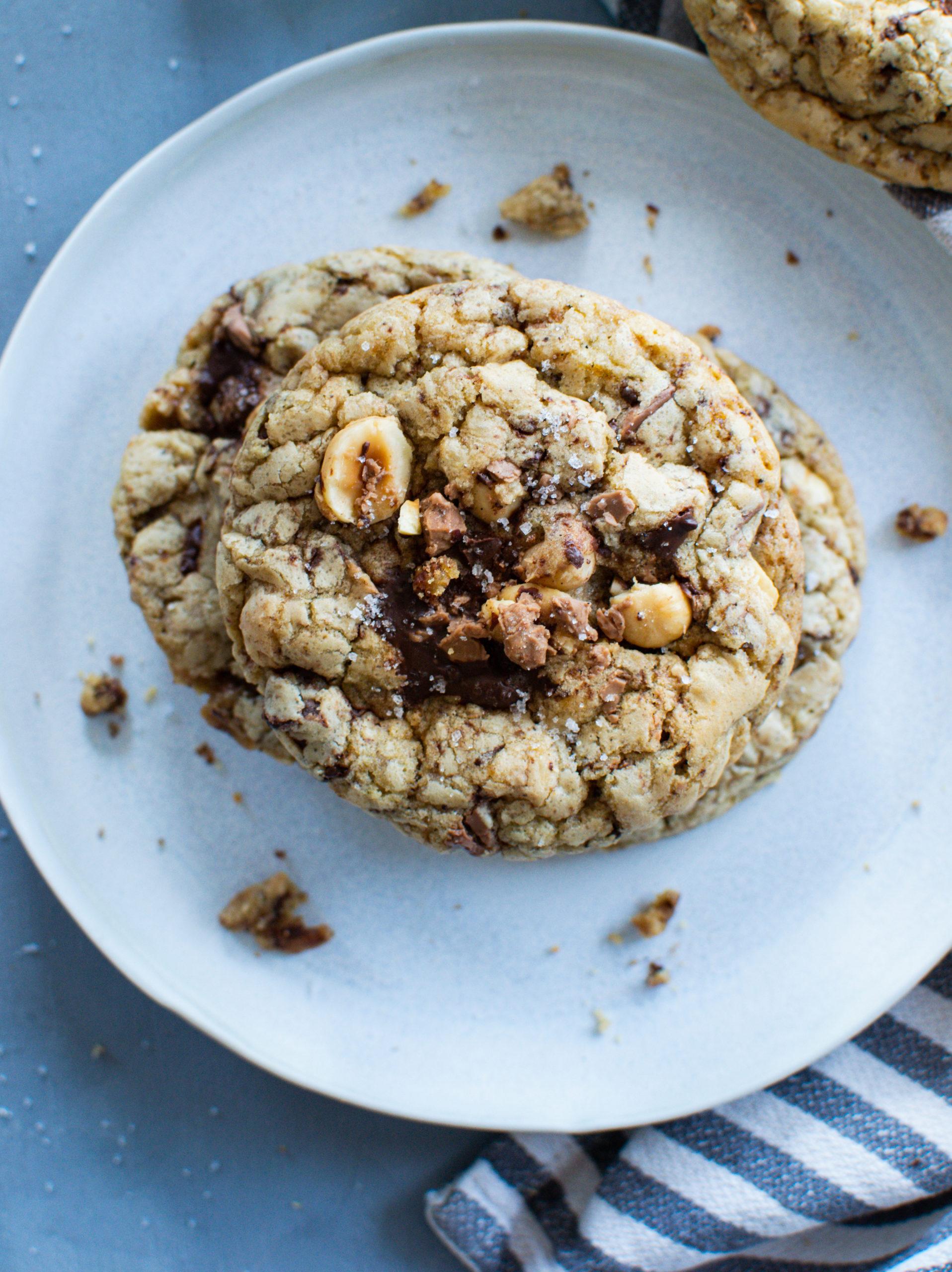 Schoko Haselnuss Cookies